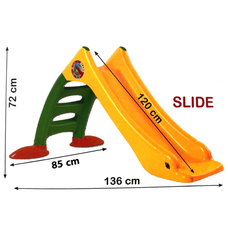 Rutsche Kinderrutsche 120cm Rutschbahn gelb