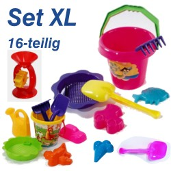 Eimergarnitur Set XL 16-teilig