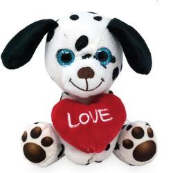 Plüsch Hund Dalmatiner mit Herz 14cm